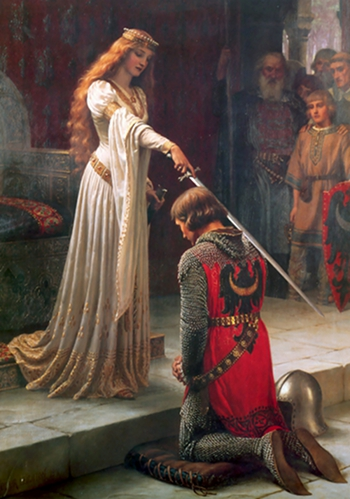 The Accolade (1901), Artist: Edmund Blair Leighton (21 September 1852-1 September 1922)